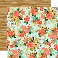 Carta Bella Paper - Fall Market Collection - 12 x 12 Doubled Sided Paper - Autumn Floral