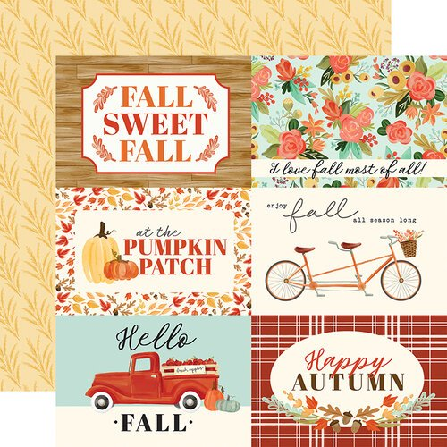 Carta Bella Paper - Fall Market Collection - 12 x 12 Doubled Sided Paper - 4 x 6 Journaling Cards