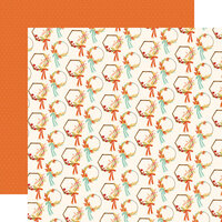 Carta Bella Paper - Fall Market Collection - 12 x 12 Doubled Sided Paper - Wreaths
