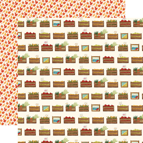 Carta Bella Paper - Fall Market Collection - 12 x 12 Doubled Sided Paper - Harvest Crates