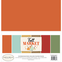 Carta Bella Paper - Fall Market Collection - 12 x 12 Paper Pack - Solids