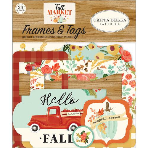Carta Bella Paper - Fall Market Collection - Ephemera - Frames and Tags