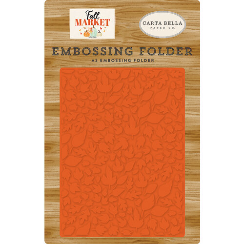 Carta Bella Paper - Fall Market Collection - Embossing Folder - Welcome Autumn