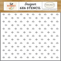 Carta Bella Paper - Fall Market Collection - 6 x 6 Stencil - Loving Fall