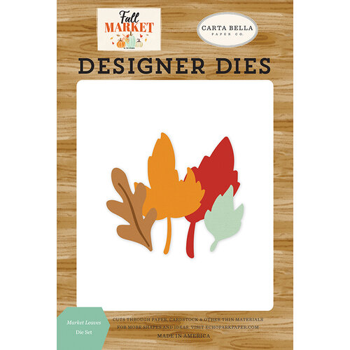 Carta Bella Paper - Fall Market Collection - Designer Dies - Market Leaves
