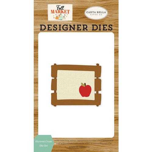 Carta Bella Paper - Fall Market Collection - Designer Dies - Harvest Crate