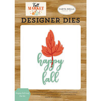 Carta Bella Paper - Fall Market Collection - Designer Dies - Happy Fall Leaf