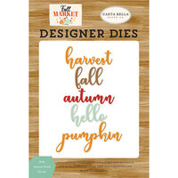 Carta Bella Paper - Fall Market Collection - Designer Dies - Hello Autumn Words