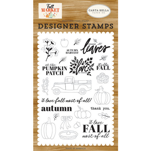 Carta Bella Paper - Fall Market Collection - Clear Photopolymer Stamps - Autumn Harvest