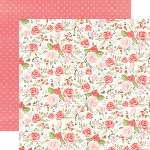 Carta Bella Paper - Farmhouse Market Collection - 12 x 12 Double Sided Paper - Lovely Floral