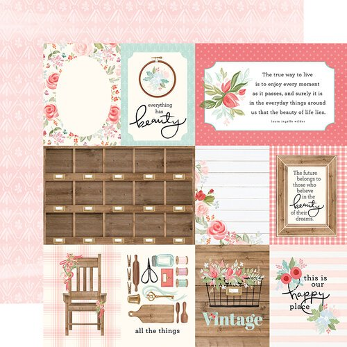 Carta Bella Paper - Farmhouse Market Collection - 12 x 12 Double Sided Paper - 3 x 4 Journaling Cards