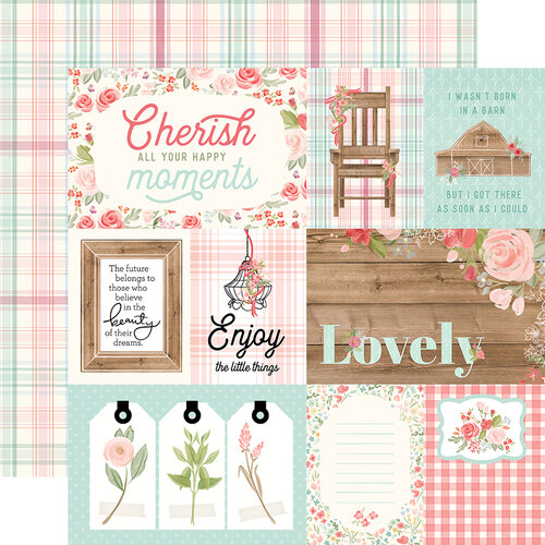 Carta Bella Paper - Farmhouse Market Collection - 12 x 12 Double Sided Paper - 4 x 6 Journaling Cards