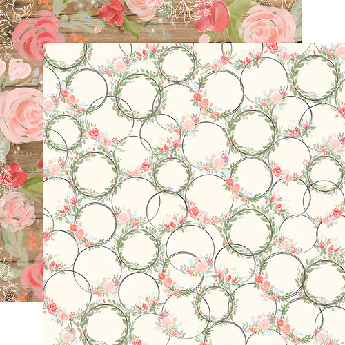 Carta Bella Paper - Farmhouse Market Collection - 12 x 12 Double Sided Paper - Wreaths