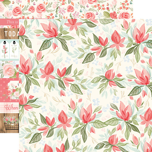 Carta Bella Paper - Farmhouse Market Collection - 12 x 12 Double Sided Paper - Timeless Floral