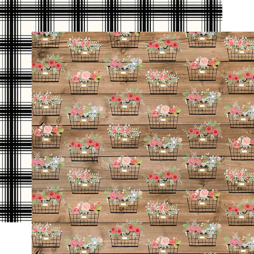 Carta Bella Paper - Farmhouse Market Collection - 12 x 12 Double Sided Paper - Baskets