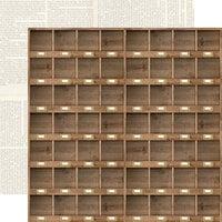 Carta Bella Paper - Farmhouse Market Collection - 12 x 12 Double Sided Paper - Cubbies