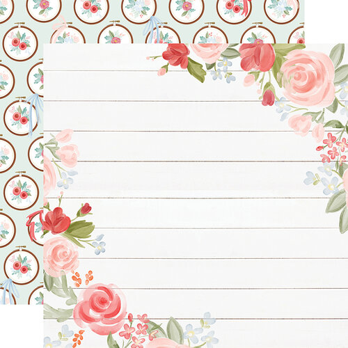 Carta Bella Paper - Farmhouse Market Collection - 12 x 12 Double Sided Paper - Floral Corners