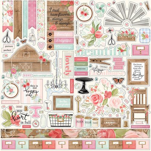 Carta Bella Paper - Farmhouse Market Collection - 12 x 12 Cardstock Stickers - Elements