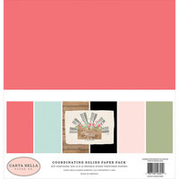 Carta Bella Paper - Farmhouse Market Collection - 12 x 12 Paper Pack - Solids