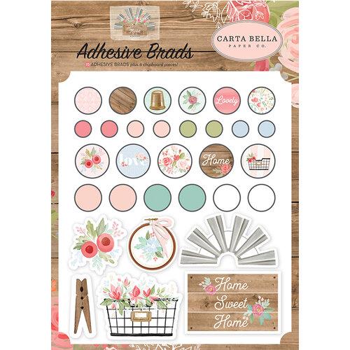 Carta Bella Paper - Farmhouse Market Collection - Self Adhesive Decorative Brads