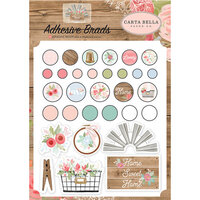 Carta Bella Paper - Farmhouse Market Collection - Self Adhesive Decorative Brads