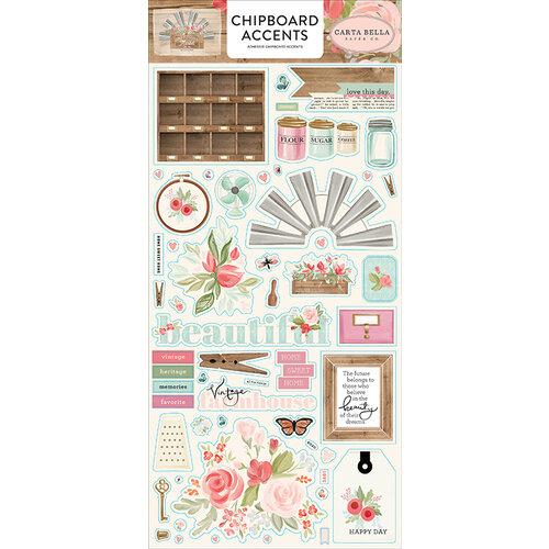 Carta Bella Paper - Farmhouse Market Collection - Chipboard Stickers - Accents