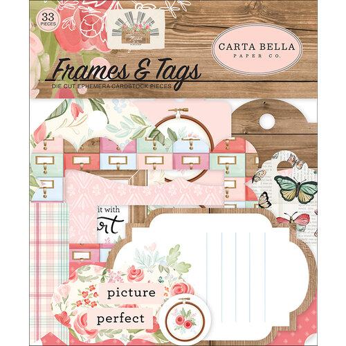 Carta Bella Paper - Farmhouse Market Collection - Ephemera - Frames and Tags