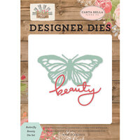 Carta Bella Paper - Farmhouse Market Collection - Decorative Dies - Butterfly Beauty