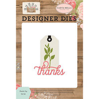 Carta Bella Paper - Farmhouse Market Collection - Decorative Dies - Thanks Tag