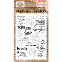 Carta Bella Paper - Farmhouse Market Collection - Clear Photopolymer Stamps - Happy Moments