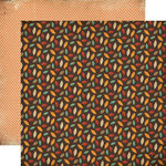 Carta Bella - Fall Blessings Collection - 12 x 12 Double Sided Paper - Falling Leaves