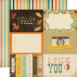 Carta Bella - Fall Blessings Collection - 12 x 12 Double Sided Paper - 4 x 6 Journaling Cards