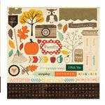 Carta Bella - Fall Blessings Collection - 12 x 12 Cardstock Stickers - Elements