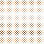 Carta Bella Paper - Dots and Stripes Collection - Copper Foil - 12 x 12 Paper with Foil Accents - White