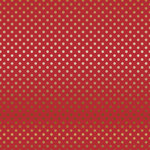 Carta Bella Paper - Dots and Stripes Collection - Copper Foil - 12 x 12 Paper with Foil Accents - Red