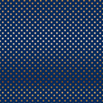 Carta Bella Paper - Dots and Stripes Collection - Copper Foil - 12 x 12 Paper with Foil Accents - Navy