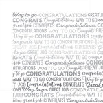 Carta Bella Paper - Congrats Silver Foil Collection - 12 x 12 Paper - White