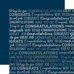 Carta Bella Paper - Congrats Silver Foil Collection - 12 x 12 Paper - Navy