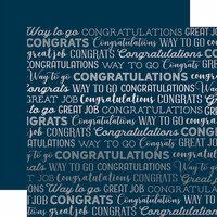 Carta Bella Paper - Congrats Silver Foil Collection - 12 x 12 Paper - Navy