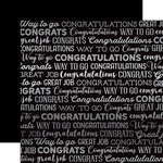Carta Bella Paper - Congrats Silver Foil Collection - 12 x 12 Paper - Black