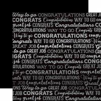 Carta Bella Paper - Congrats Silver Foil Collection - 12 x 12 Paper - Black