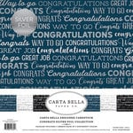 Carta Bella Paper - Congrats Silver Foil Collection - 12 x 12 Collection Kit