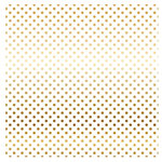 Carta Bella Paper - Dots and Stripes Collection - Gold Foil - 12 x 12 Paper with Foil Accents - White