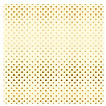 Carta Bella Paper - Dots and Stripes Collection - Gold Foil - 12 x 12 Paper with Foil Accents - Cream
