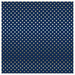 Carta Bella Paper - Dots and Stripes Collection - Gold Foil - 12 x 12 Paper with Foil Accents - Navy