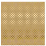 Carta Bella Paper - Dots and Stripes Collection - Gold Foil - 12 x 12 Paper with Foil Accents - Kraft