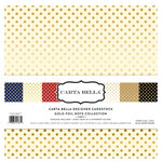 Carta Bella Paper - Dots and Stripes Collection - Gold Foil - 12 x 12 Collection Kit