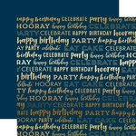 Carta Bella Paper - Happy Birthday Gold Foil Collection - 12 x 12 Paper - Navy
