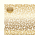 Carta Bella Paper - Holly and Berries Gold Foil Collection - 12 x 12 Double Sided Paper - White