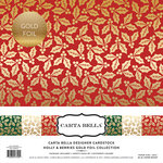 Carta Bella Paper - Holly and Berries Gold Foil Collection - 12 x 12 Collection Kit